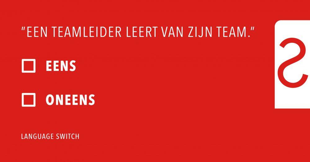Een Teamleider Leert Van Zijn Team